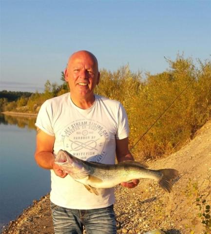 Michael Klein  Zander, 6,4 Pfund  Datum: 03.10.2015  Ort: Kühlsee