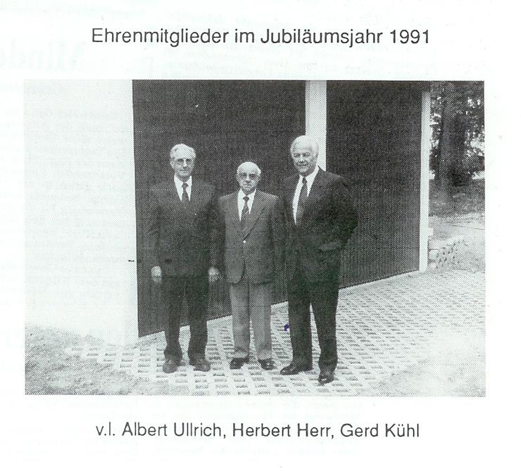 Ehrenmitglieder 1991 25jähriges
